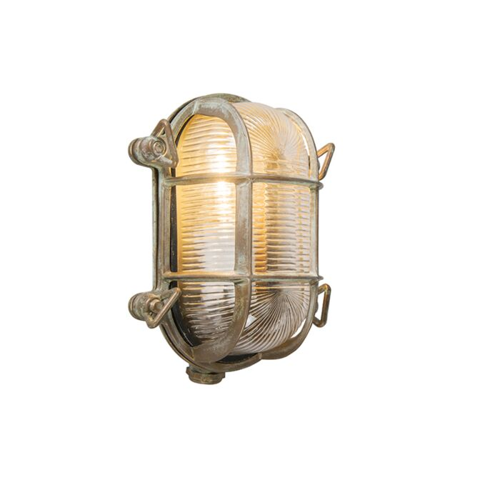 Wall-and-ceiling-light-brown-18/14-cm-IP44---Nautica-2-oval