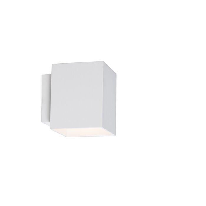 Modern-wall-lamp-square-white---Sola