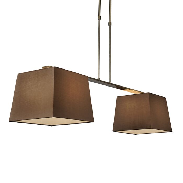 Pendant-Lamp-Combi-Delux-2-with-Square-Shades-30cm-Brown