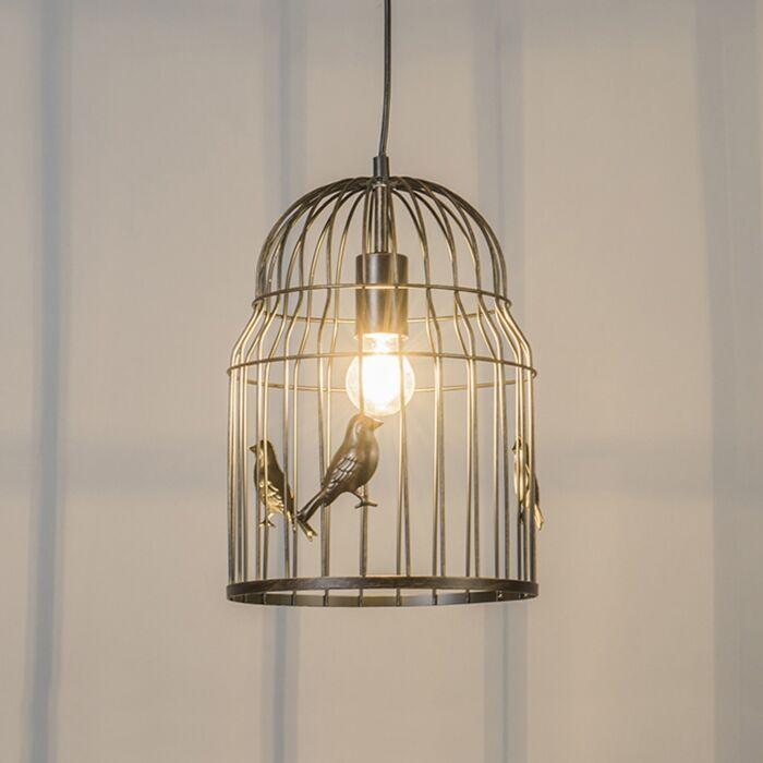 Art-Deco-Pendant-Lamp-Rust---Birdcage