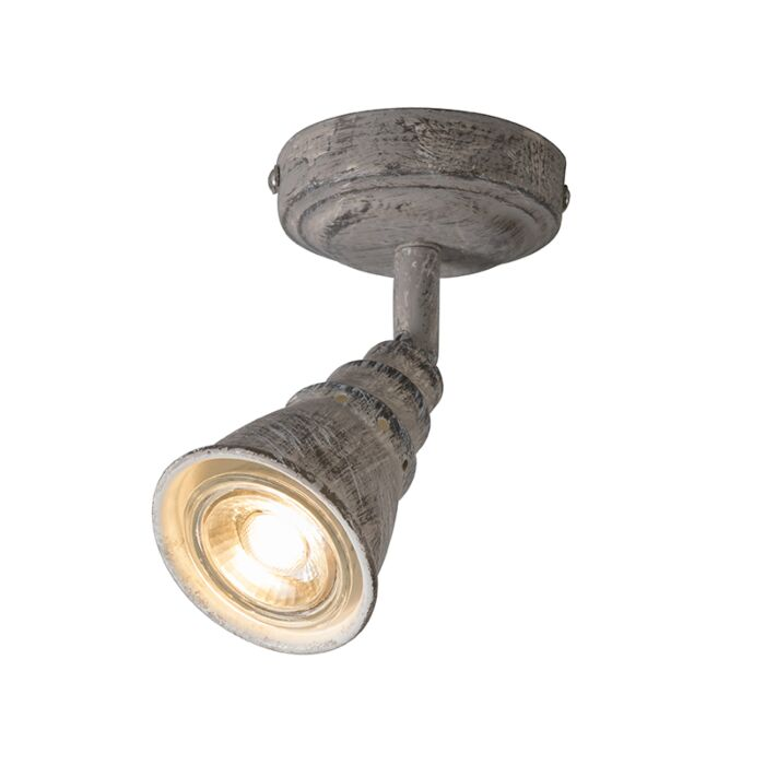 Ceiling-and-wall-spotlight-gray-rotatable-and-tiltable---Coney-1