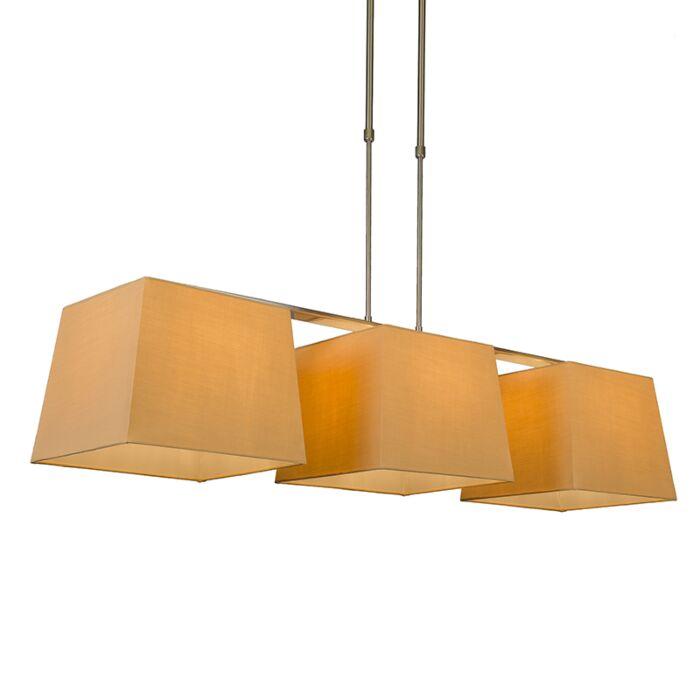 Pendant-Lamp-Combi-Delux-3-with-Square-Shades-30cm-Beige