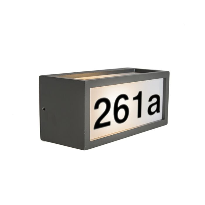 Wall-Lamp-Angle-2H-Dark-Grey-with-House-Number-Stickers