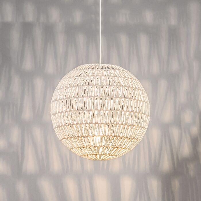 Retro-hanging-lamp-white-40-cm---Lina-Ball-40
