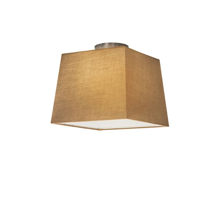Ceiling-Lamp-Combi-with-Square-Shade-30cm-Beige