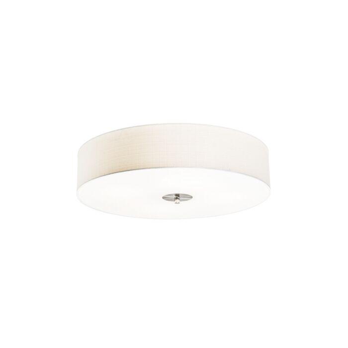 Rural-ceiling-lamp-white-50-cm---Drum-Jute