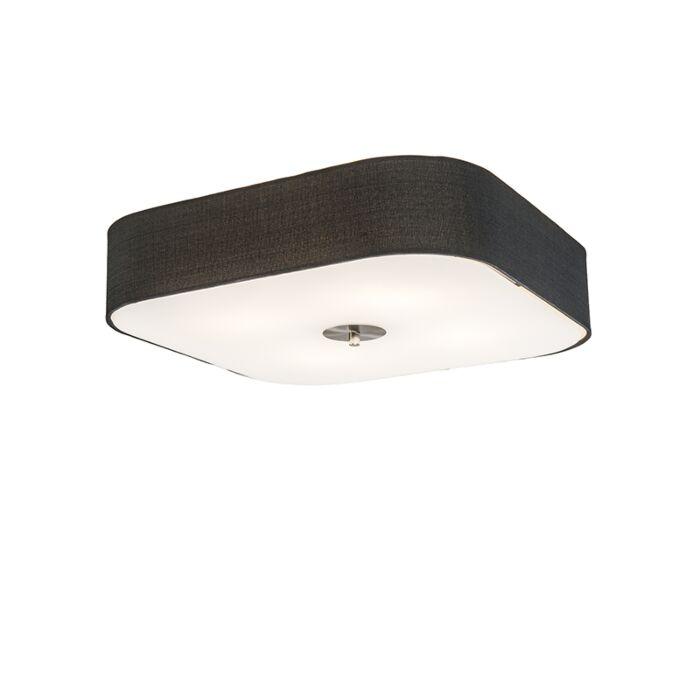Square-Ceiling-Lamp-50cm-Black---Drum-Deluxe-Jute