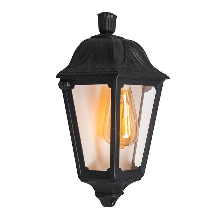 Classic-outdoor-wall-lantern-black-IP55---Lessie