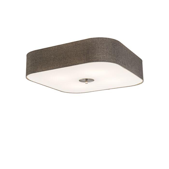 Ceiling-Lamp-Drum-Deluxe-50-Square-Jute-Taupe