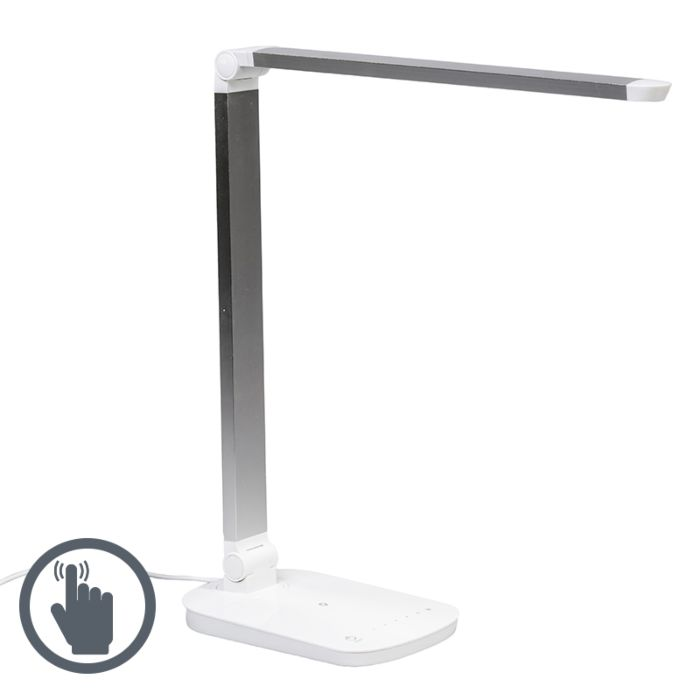 Table-Lamp-Office-LED-White-Silver