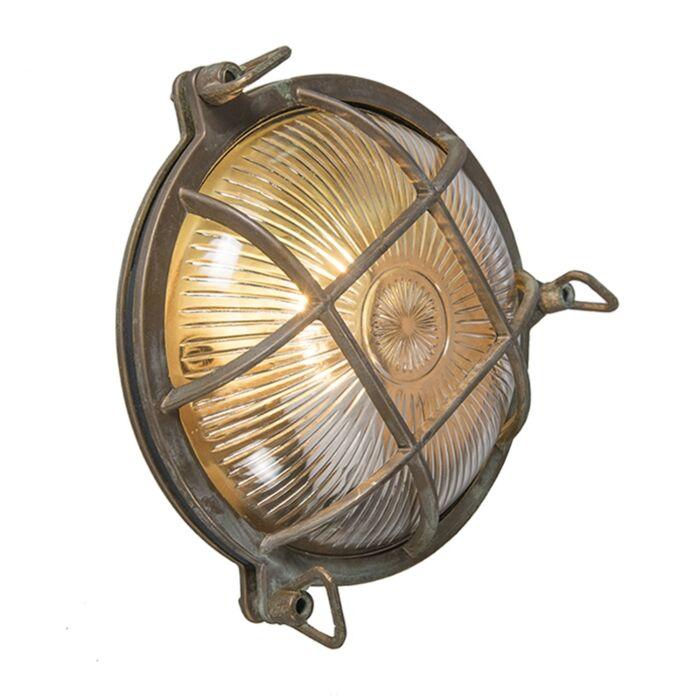Retro-wall-lamp-brown-IP44---Nautica-round