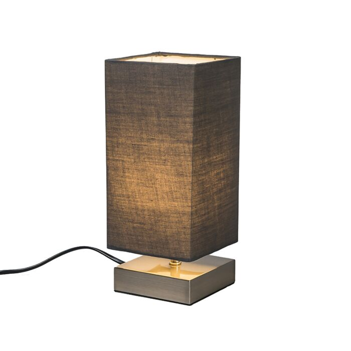 Modern-table-lamp-gray-with-steel---Milo