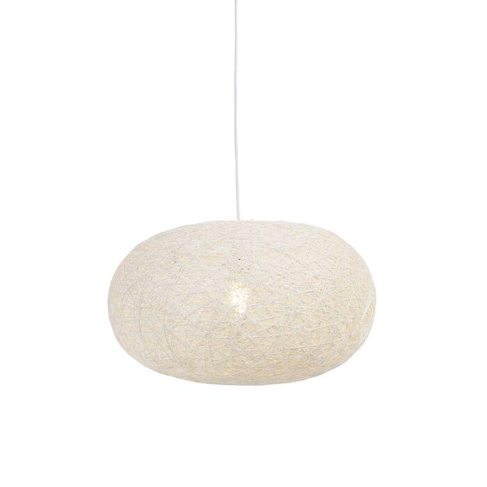 Rural-hanging-lamp-white-50-cm---Corda-Flat
