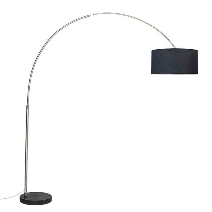 Arc-lamp-steel-black-shade-50-cm---XXL