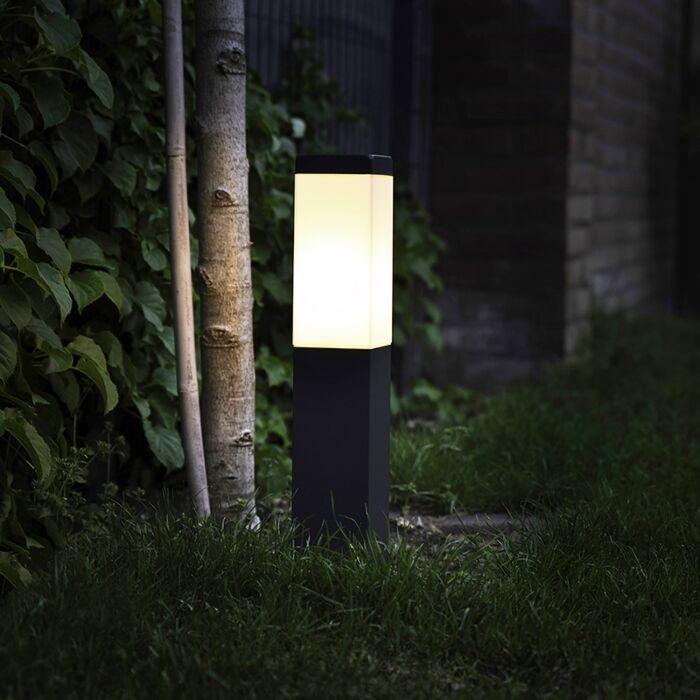 Modern-Outdoor-Pole-45cm-Dark-Grey-IP44---Malios
