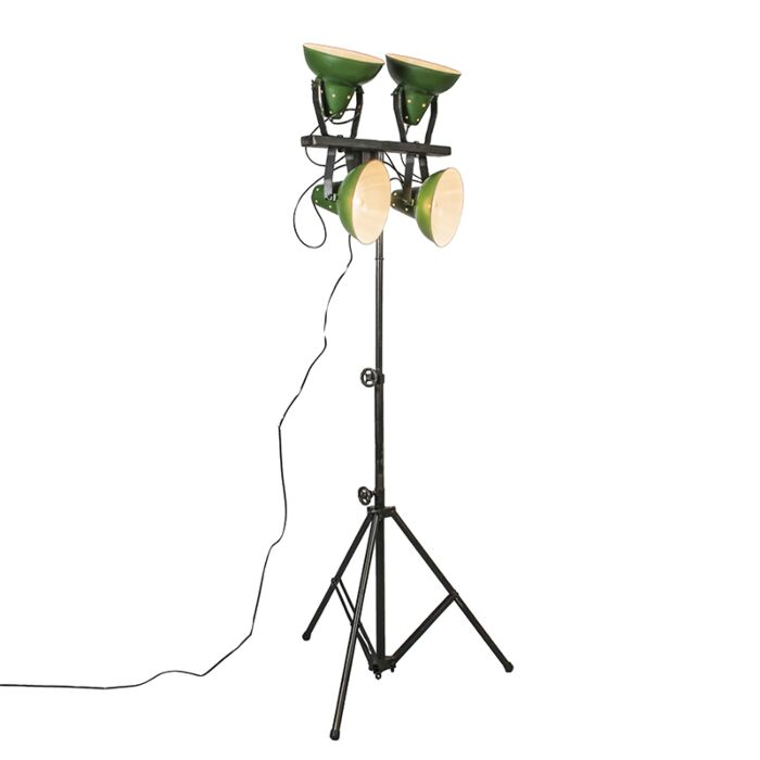 Floor-Lamp-Pedestal-Green