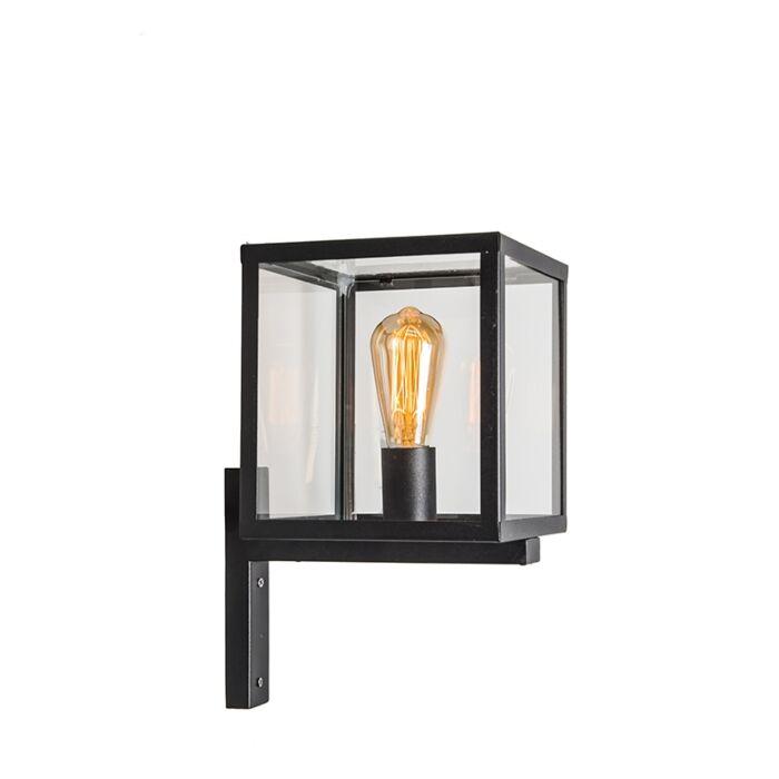 Industrial-square-exterior-wall-lamp-black-IP23---Rotterdam