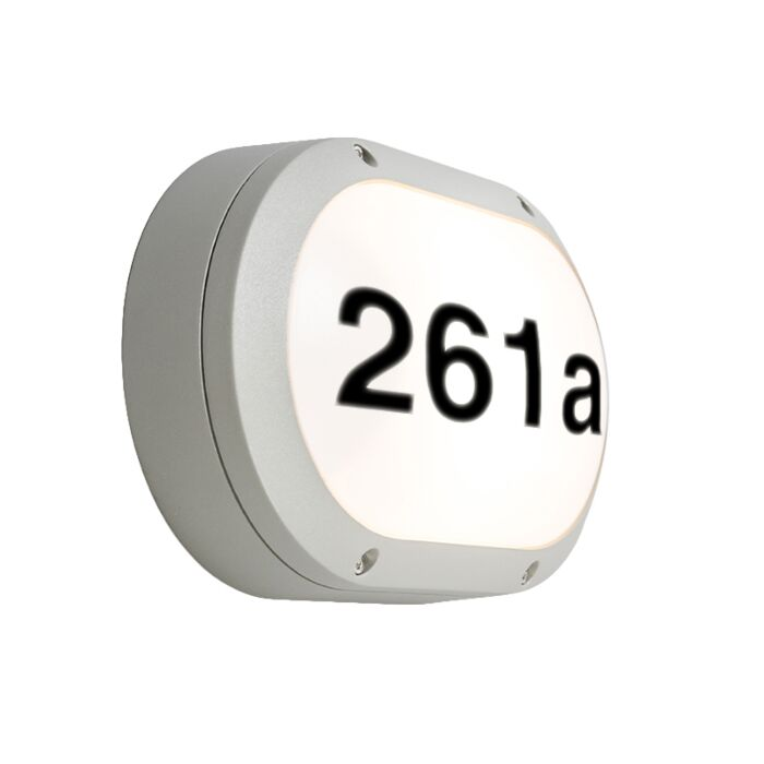 Wall-Lamp-Glow-Oval-1-Horizontal-Light-Grey-with-House-Number-Stickers