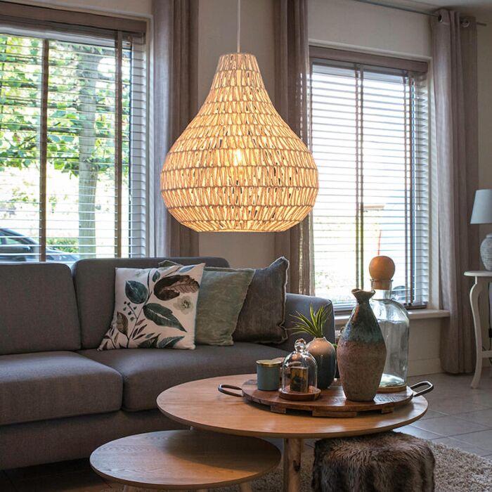 Scandinavian-hanging-lamp-white-45-cm---Lina-Drop