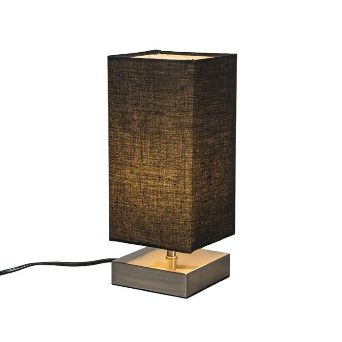 Modern-table-lamp-black-with-steel---Milo