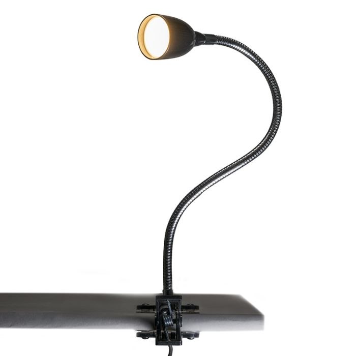 Clamp-Lamp-Flex-Black-LED