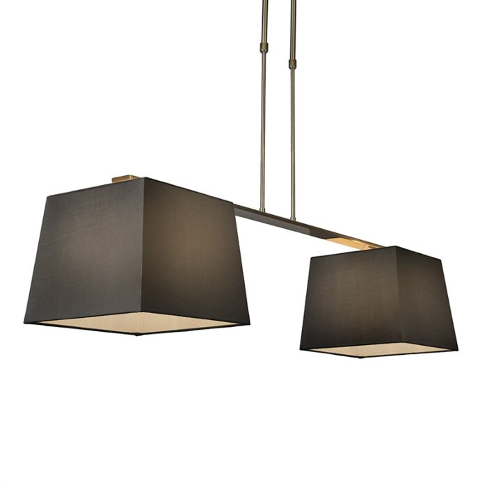 Pendant-Lamp-Combi-Delux-2-with-Square-Shades-30cm-Black