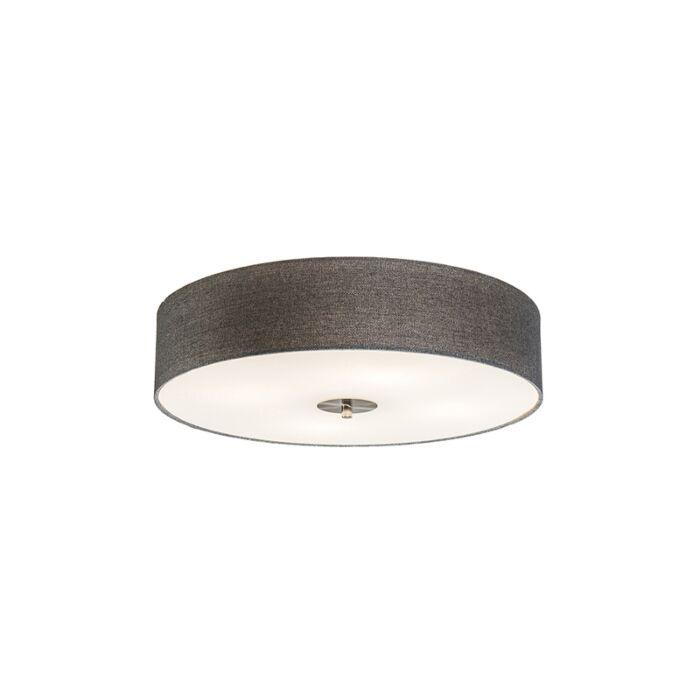 Country-Ceiling-Lamp-Grey-50cm---Drum-Jute
