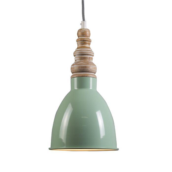 Pendant-Lamp-Oak-Mint-Green