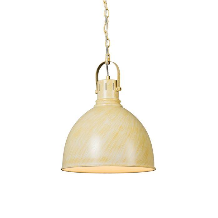 Industrial-Round-Pendant-Lamp-Antique-White---Goblet