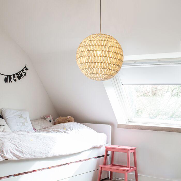 Retro-hanging-lamp-white-60-cm---Lina-Ball-60