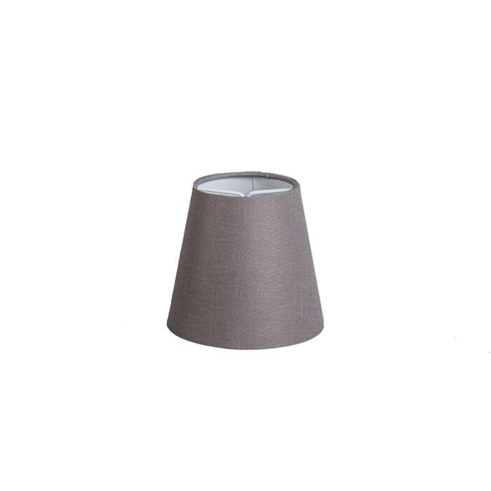 Clamp-Shade-Round-12cm-SC-Linen-Brown/Grey