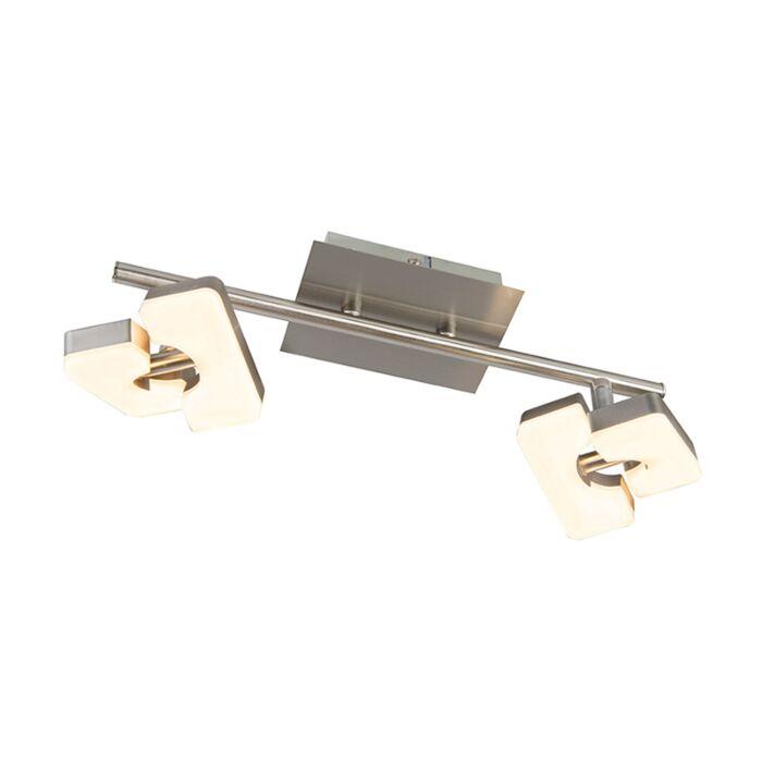 Modern-Ceiling-Spotlight-Steel-incl.-LED---Twin-2-