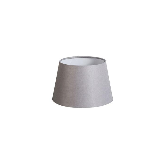 Shade-Round-20cm-DS-E27-Linen-Light-Grey