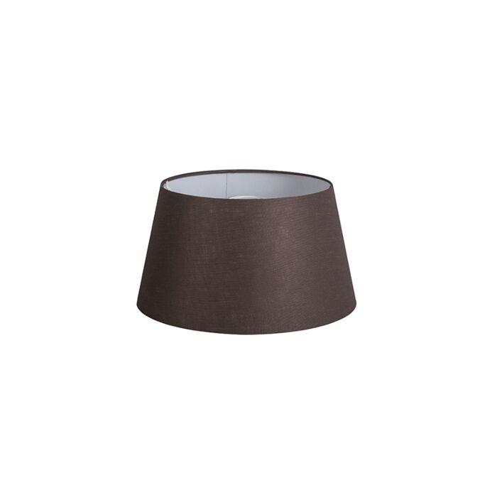Shade-Round-32cm-DS-E27-Linen-Brown