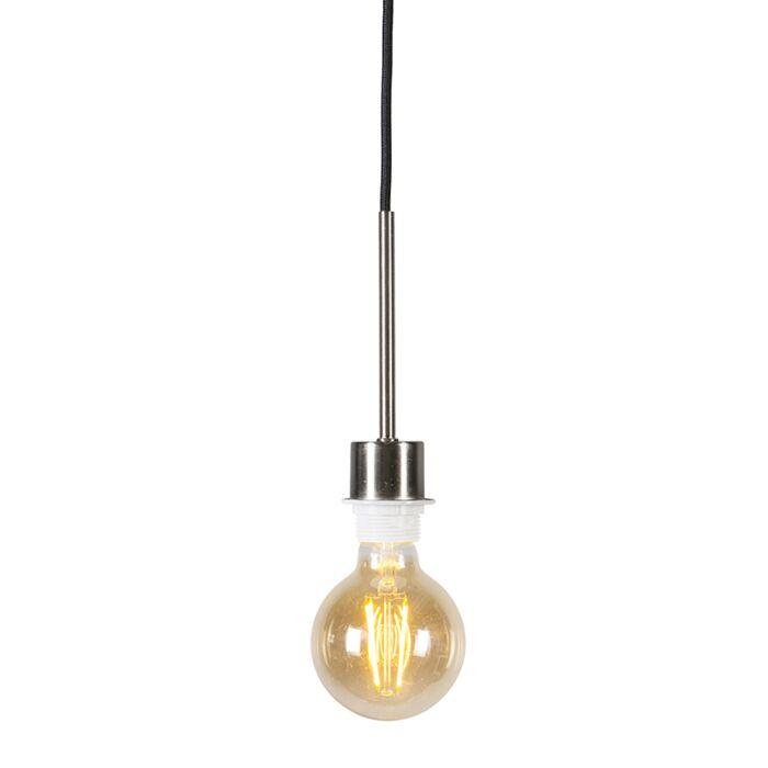 Modern-Pendant-Lamp-Steel-with-Black-Cord---Combi-1