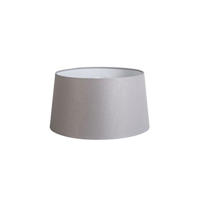 Shade-Round-40cm-DS-E27-Linen-Light-Grey