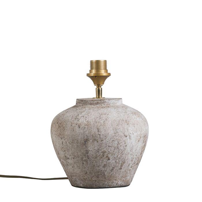 Classic-table-lamp-brown-stone---Inca-XS