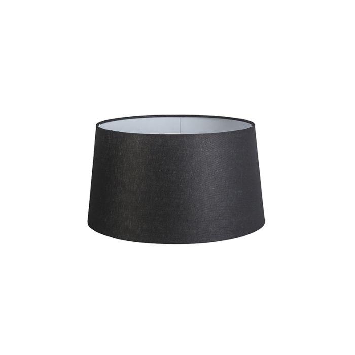 Shade-Round-40cm-DS-E27-Linen-Black