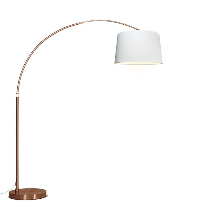 Arc-Lamp-XXL-Copper-with-Round-White-Shade