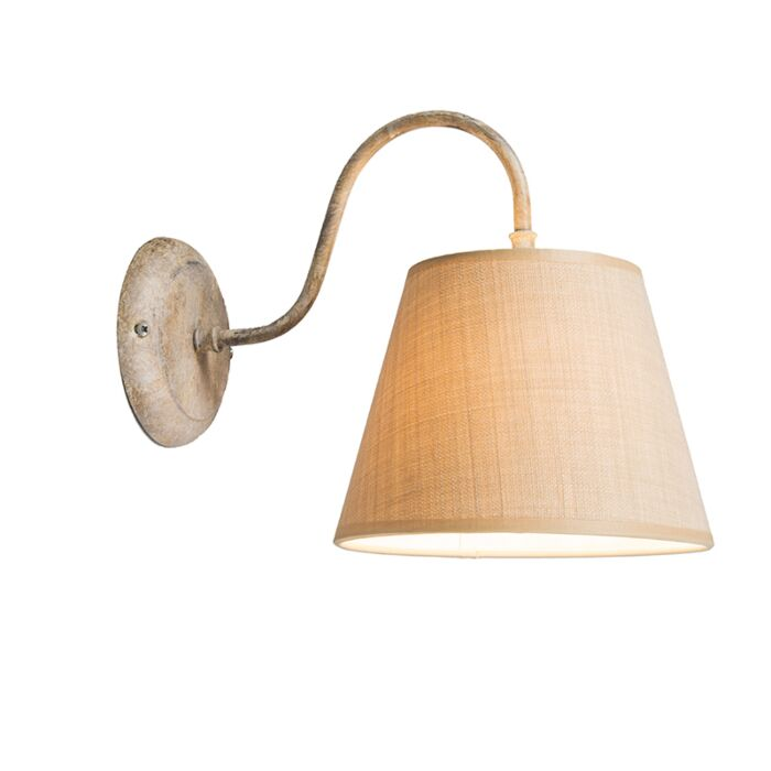 Wall-Lamp-Silea-Down-with-Shade-Taupe