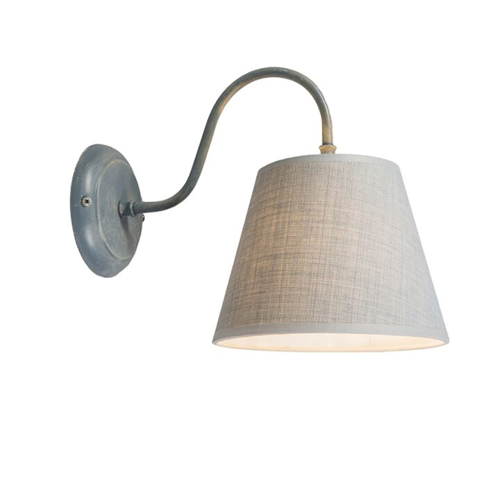 Wall-Lamp-Silea-Down-with-Shade-Antique-Grey