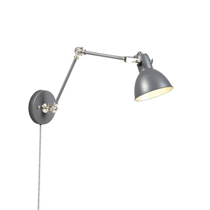 Industrial-wall-lamp-gray-adjustable---Dazzle