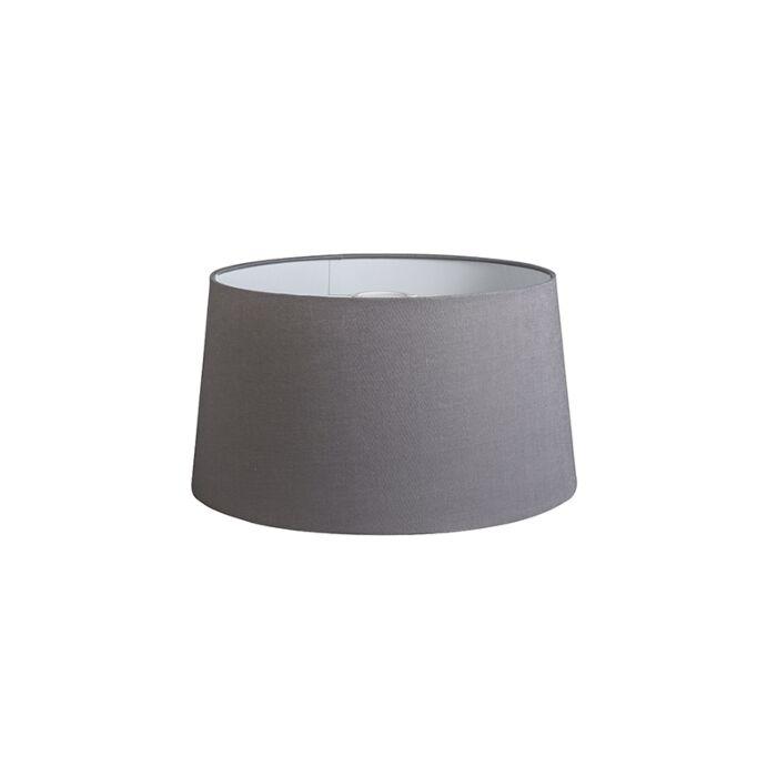 Shade-Round-40cm-DS-E27-Linen-Dark-Grey