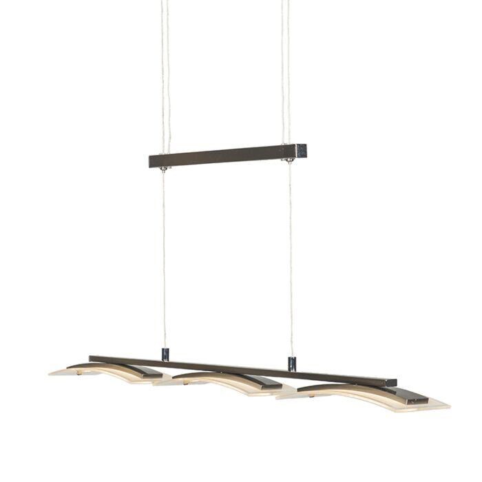 Modern-hanging-lamp-steel-3-light-adjustable-incl.-LED---Hano