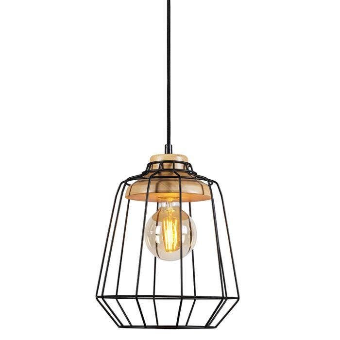 Pendant-Lamp-Frame-Wood-1-Black