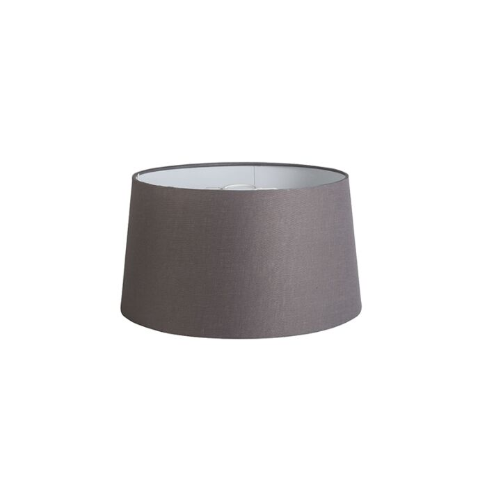 Shade-Round-40cm-DS-E27-Linen-Brown/Grey