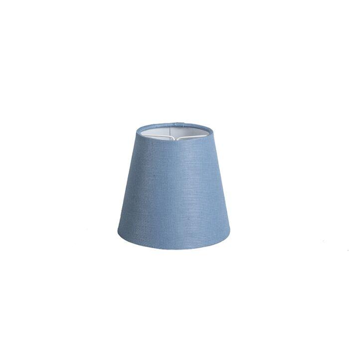 Clamp-Shade-Round-12cm-SC-Linen-Blue