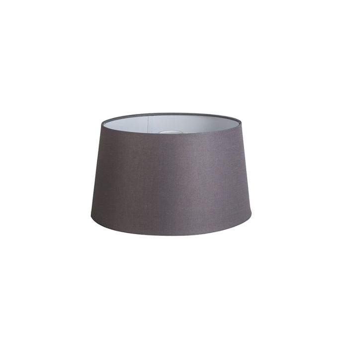 Shade-Round-35cm-DS-E27-Linen-Brown/Grey