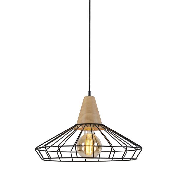 Pendant-Lamp-Frame-Wood-2-Black