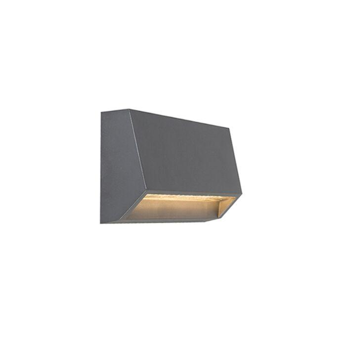 Modern-outdoor-wall-lamp-dark-gray-incl.-LED-IP65---Sandstone-2
